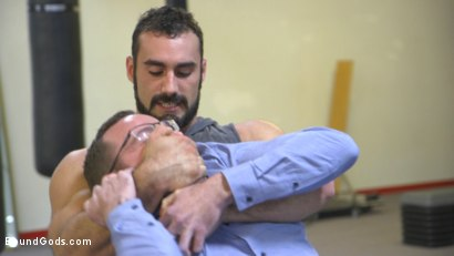 Photo number 1 from Slender stud humiliated and abused at the hands of his muscled tenant shot for Bound Gods on Kink.com. Featuring Jaxton Wheeler and Alex Hawk in hardcore BDSM & Fetish porn.