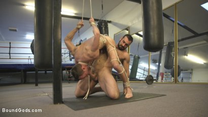Photo number 8 from Slender stud humiliated and abused at the hands of his muscled tenant shot for Bound Gods on Kink.com. Featuring Jaxton Wheeler and Alex Hawk in hardcore BDSM & Fetish porn.