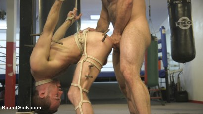 Photo number 9 from Slender stud humiliated and abused at the hands of his muscled tenant shot for Bound Gods on Kink.com. Featuring Jaxton Wheeler and Alex Hawk in hardcore BDSM & Fetish porn.