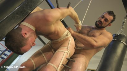 Photo number 10 from Slender stud humiliated and abused at the hands of his muscled tenant shot for Bound Gods on Kink.com. Featuring Jaxton Wheeler and Alex Hawk in hardcore BDSM & Fetish porn.