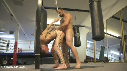 Photo number 11 from Slender stud humiliated and abused at the hands of his muscled tenant shot for Bound Gods on Kink.com. Featuring Jaxton Wheeler and Alex Hawk in hardcore BDSM & Fetish porn.