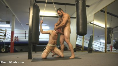 Photo number 12 from Slender stud humiliated and abused at the hands of his muscled tenant shot for Bound Gods on Kink.com. Featuring Jaxton Wheeler and Alex Hawk in hardcore BDSM & Fetish porn.