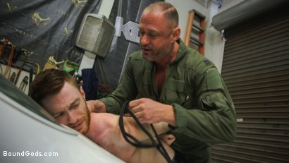 Photo number 2 from The Mechanic shot for Bound Gods on Kink.com. Featuring Seamus O'Reilly and D. Arclyte in hardcore BDSM & Fetish porn.