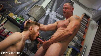 Photo number 5 from The Mechanic shot for Bound Gods on Kink.com. Featuring Seamus O'Reilly and D. Arclyte in hardcore BDSM & Fetish porn.