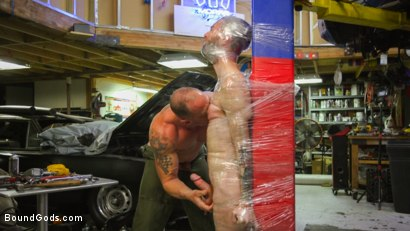 Photo number 7 from The Mechanic shot for Bound Gods on Kink.com. Featuring Seamus O'Reilly and D. Arclyte in hardcore BDSM & Fetish porn.
