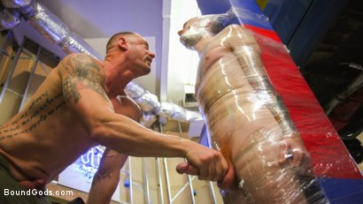 Photo number 9 from The Mechanic shot for Bound Gods on Kink.com. Featuring Seamus O'Reilly and D. Arclyte in hardcore BDSM & Fetish porn.