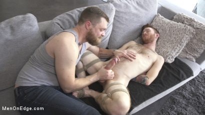Photo number 4 from Online Hookup Ends With Tickling & Edging in Bondage for a Hung Ginger shot for Men On Edge on Kink.com. Featuring Seamus O'Reilly in hardcore BDSM & Fetish porn.