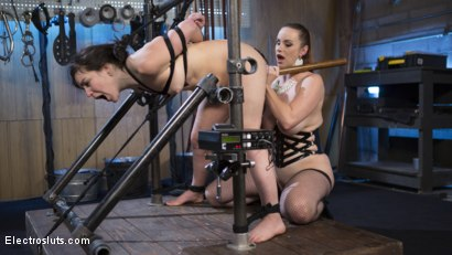 Photo number 12 from Scared Tough Electroslut Comes Hard on Electricity!  shot for Electro Sluts on Kink.com. Featuring Juliette March and Bella Rossi in hardcore BDSM & Fetish porn.