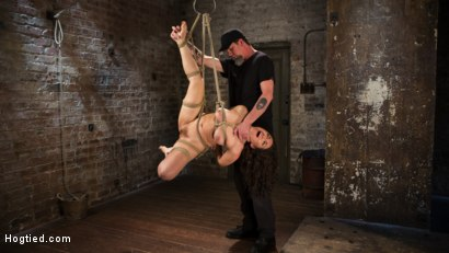 Photo number 13 from Super Slut is Subjected to Brutal Torment and Bondage! shot for Hogtied on Kink.com. Featuring Gabriella Paltrova and The Pope in hardcore BDSM & Fetish porn.