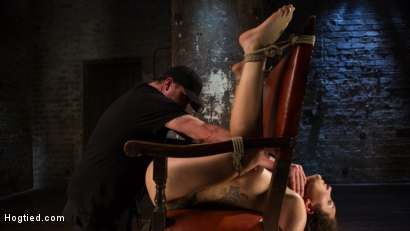 Photo number 15 from Super Slut is Subjected to Brutal Torment and Bondage! shot for Hogtied on Kink.com. Featuring Gabriella Paltrova and The Pope in hardcore BDSM & Fetish porn.