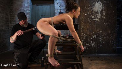 Photo number 4 from Super Slut is Subjected to Brutal Torment and Bondage! shot for Hogtied on Kink.com. Featuring Gabriella Paltrova and The Pope in hardcore BDSM & Fetish porn.
