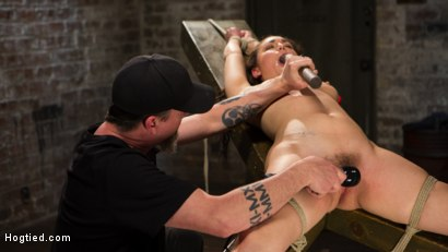 Photo number 8 from Super Slut is Subjected to Brutal Torment and Bondage! shot for Hogtied on Kink.com. Featuring Gabriella Paltrova and The Pope in hardcore BDSM & Fetish porn.