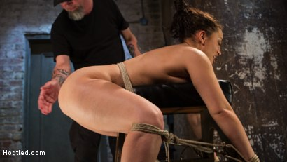 Photo number 10 from Super Slut is Subjected to Brutal Torment and Bondage! shot for Hogtied on Kink.com. Featuring Gabriella Paltrova and The Pope in hardcore BDSM & Fetish porn.