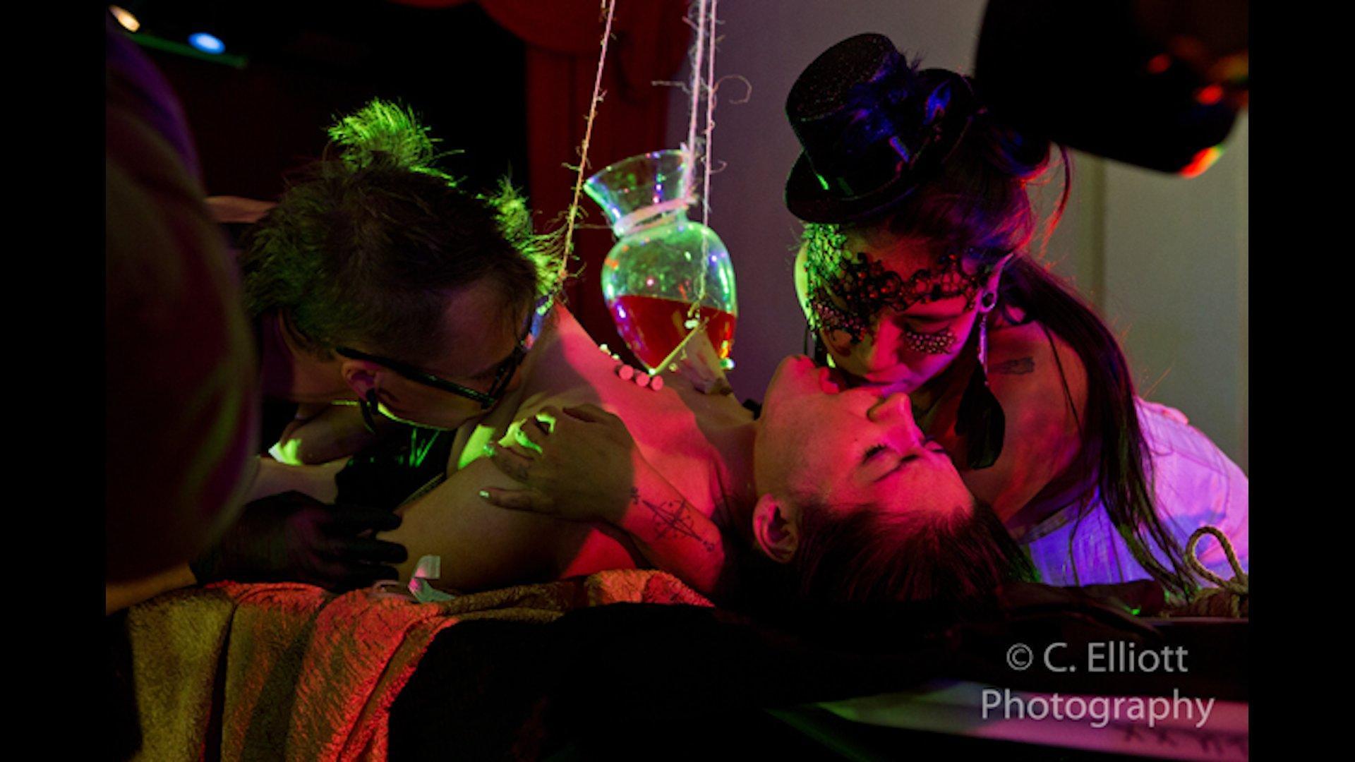 Photo number 5 from FEED: The Last Supper shot for Bleu Films on Kink.com. Featuring Jessie Sparkles, Big Papa, Megan Amber, Ruf Rollin, Clown Girl, Drillian, Juan Nightstand, Work Boxx, M. Jackalinski, Natalie, Gasper Johnson, Espirro de Gata, Cortessa Von Ness, Coin Boy, Nina OG, Marla Mae, Smith Vivienne, Ellarey and Nico in hardcore BDSM & Fetish porn.