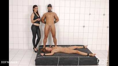 Photo number 9 from Luxury Mistress Dominates a Submissive couple shot for DDF Network on Kink.com. Featuring Mugur in hardcore BDSM & Fetish porn.