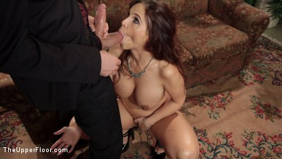 Photo number 12 from Facts of Desire: Petite 19 Year Old Trained by Anal Slut Step-Mom & Sadistic Butler shot for The Upper Floor on Kink.com. Featuring Xander Corvus, Holly Hendrix and Syren de Mer in hardcore BDSM & Fetish porn.