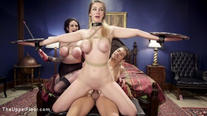 Photo number 11 from Gorgeous Fan Girl uses Big Tits to Get The Final Anal Slave Training  shot for The Upper Floor on Kink.com. Featuring Xander Corvus, Stella Cox  and Arabelle Raphael in hardcore BDSM & Fetish porn.