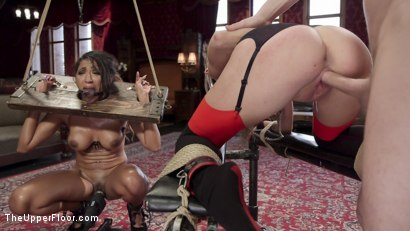 Photo number 3 from The Sex Toy and The Whipping Girl shot for The Upper Floor on Kink.com. Featuring Seth Gamble, Kacie Castle and Sadie Santana in hardcore BDSM & Fetish porn.