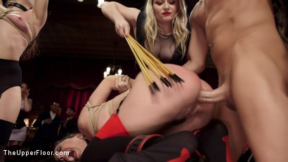 Photo number 6 from Holiday BDSM Slut Orgy turns Fangirl to Sex Slave shot for The Upper Floor on Kink.com. Featuring Xander Corvus, Aiden Starr, Kimber Woods and Roxanne Rae in hardcore BDSM & Fetish porn.