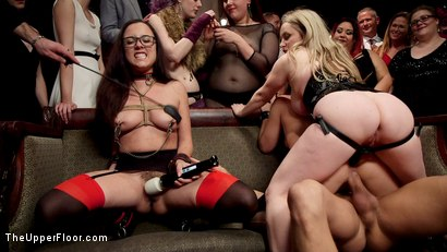 Photo number 15 from Horny Whores Holiday Orgy shot for The Upper Floor on Kink.com. Featuring Xander Corvus, Aiden Starr, Kimber Woods and Roxanne Rae in hardcore BDSM & Fetish porn.