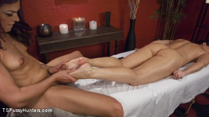 Photo number 7 from Nuru Bondage Creampie shot for TS Pussy Hunters on Kink.com. Featuring Wenona and Kelli Lox in hardcore BDSM & Fetish porn.