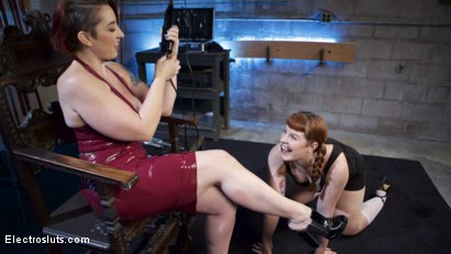 Photo number 15 from How Much Will You Take?: Electroslut Barbary Rose Serves Mistress Kara shot for Electro Sluts on Kink.com. Featuring Mistress Kara and Barbary Rose in hardcore BDSM & Fetish porn.
