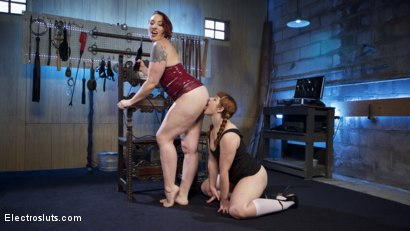 Photo number 17 from How Much Will You Take?: Electroslut Barbary Rose Serves Mistress Kara shot for Electro Sluts on Kink.com. Featuring Mistress Kara and Barbary Rose in hardcore BDSM & Fetish porn.