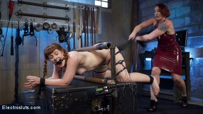 Photo number 3 from How Much Will You Take?: Electroslut Barbary Rose Serves Mistress Kara shot for Electro Sluts on Kink.com. Featuring Mistress Kara and Barbary Rose in hardcore BDSM & Fetish porn.