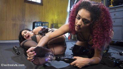 Photo number 20 from New Electroslut Bombshell Gets Shocked! shot for Electro Sluts on Kink.com. Featuring Missy Martinez and Daisy Ducati in hardcore BDSM & Fetish porn.