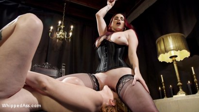 Photo number 1 from Bella Rossi Breaks in Redhead Lesbian Anal Slave  shot for Whipped Ass on Kink.com. Featuring Lauren Phillips and Bella Rossi in hardcore BDSM & Fetish porn.