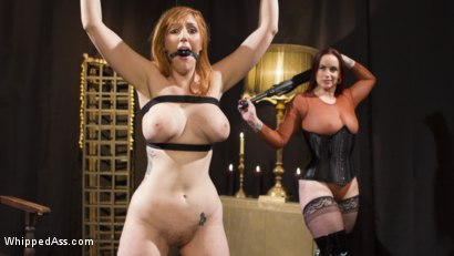 Photo number 5 from Bella Rossi Breaks in Redhead Lesbian Anal Slave  shot for Whipped Ass on Kink.com. Featuring Lauren Phillips and Bella Rossi in hardcore BDSM & Fetish porn.