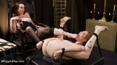 Photo number 11 from Bella Rossi Breaks in Redhead Lesbian Anal Slave  shot for Whipped Ass on Kink.com. Featuring Lauren Phillips and Bella Rossi in hardcore BDSM & Fetish porn.