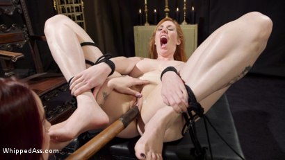 Photo number 16 from Bella Rossi Breaks in Redhead Lesbian Anal Slave  shot for Whipped Ass on Kink.com. Featuring Lauren Phillips and Bella Rossi in hardcore BDSM & Fetish porn.