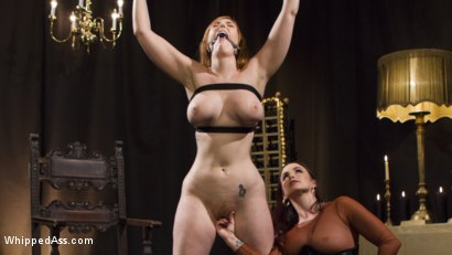 Photo number 8 from Bella Rossi Breaks in Redhead Lesbian Anal Slave  shot for Whipped Ass on Kink.com. Featuring Lauren Phillips and Bella Rossi in hardcore BDSM & Fetish porn.