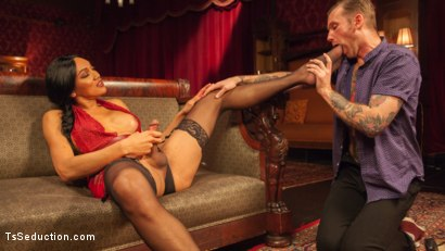 Photo number 1 from The House Special: Yasmin Lee Treats Will Havoc To a Hard Surprise shot for TS Seduction on Kink.com. Featuring Yasmin Lee and Will Havoc in hardcore BDSM & Fetish porn.