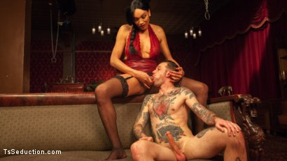 Photo number 4 from The House Special: Yasmin Lee Treats Will Havoc To a Hard Surprise shot for TS Seduction on Kink.com. Featuring Yasmin Lee and Will Havoc in hardcore BDSM & Fetish porn.