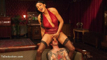 Photo number 6 from The House Special: Yasmin Lee Treats Will Havoc To a Hard Surprise shot for TS Seduction on Kink.com. Featuring Yasmin Lee and Will Havoc in hardcore BDSM & Fetish porn.