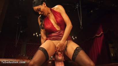 Photo number 8 from The House Special: Yasmin Lee Treats Will Havoc To a Hard Surprise shot for TS Seduction on Kink.com. Featuring Yasmin Lee and Will Havoc in hardcore BDSM & Fetish porn.