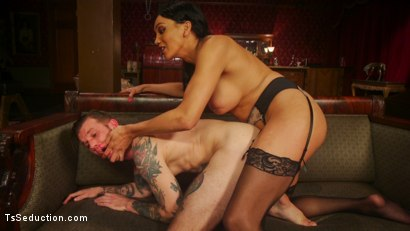 Photo number 10 from The House Special: Yasmin Lee Treats Will Havoc To a Hard Surprise shot for TS Seduction on Kink.com. Featuring Yasmin Lee and Will Havoc in hardcore BDSM & Fetish porn.