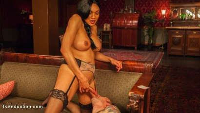 Photo number 19 from The House Special: Yasmin Lee Treats Will Havoc To a Hard Surprise shot for TS Seduction on Kink.com. Featuring Yasmin Lee and Will Havoc in hardcore BDSM & Fetish porn.
