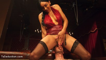 Photo number 7 from The House Special: Yasmin Lee Treats Will Havoc To a Hard Surprise shot for TS Seduction on Kink.com. Featuring Yasmin Lee and Will Havoc in hardcore BDSM & Fetish porn.