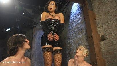 Photo number 4 from Cramming Anatomy 101 With Venus Lux shot for TS Seduction on Kink.com. Featuring Venus Lux, Mercy West and Tony Orlando in hardcore BDSM & Fetish porn.