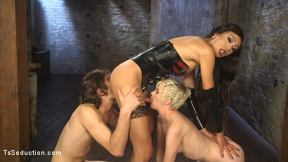 Photo number 9 from Cramming Anatomy 101 With Venus Lux shot for TS Seduction on Kink.com. Featuring Venus Lux, Mercy West and Tony Orlando in hardcore BDSM & Fetish porn.