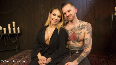 Photo number 20 from A Sensual TS Feast: Goddess TS Foxxy's Pleasure Slave shot for TS Seduction on Kink.com. Featuring TS Foxxy and Will Havoc in hardcore BDSM & Fetish porn.
