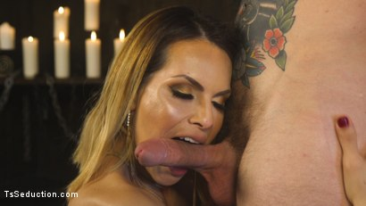 Photo number 5 from A Sensual TS Feast: Goddess TS Foxxy's Pleasure Slave shot for TS Seduction on Kink.com. Featuring TS Foxxy and Will Havoc in hardcore BDSM & Fetish porn.