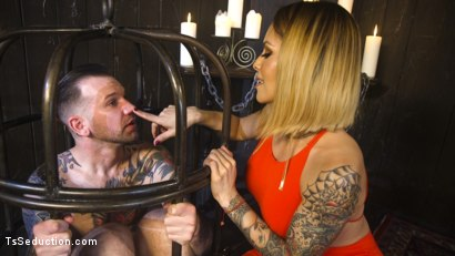 Photo number 6 from A Sensual TS Feast: Goddess TS Foxxy's Pleasure Slave shot for TS Seduction on Kink.com. Featuring TS Foxxy and Will Havoc in hardcore BDSM & Fetish porn.