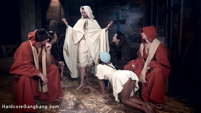 Photo number 1 from The Holy Vessel shot for Hardcore Gangbang on Kink.com. Featuring Small Hands, Owen Gray, Charles Dera, Will Havoc, Verta  and Tarzan in hardcore BDSM & Fetish porn.