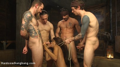 Photo number 6 from The Holy Vessel shot for Hardcore Gangbang on Kink.com. Featuring Small Hands, Owen Gray, Charles Dera, Will Havoc, Verta  and Tarzan in hardcore BDSM & Fetish porn.