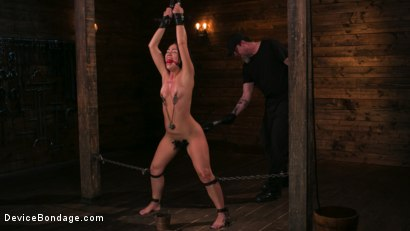 Photo number 2 from A Rose By Any Other Name shot for Device Bondage on Kink.com. Featuring Kristina Rose and The Pope in hardcore BDSM & Fetish porn.