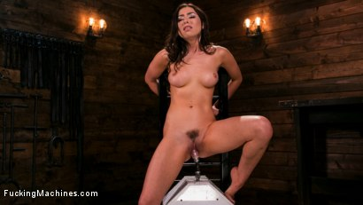 Photo number 5 from All Natural New Girl Squirts Everywhere From Machine Fucking shot for Fucking Machines on Kink.com. Featuring Melissa Moore in hardcore BDSM & Fetish porn.